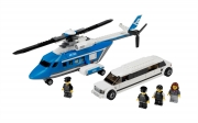 Helicopter and Limousine