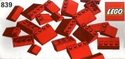 Red Roof Bricks Parts Pack, 33°